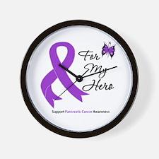 Pancreatic Cancer Hero Wall Clock