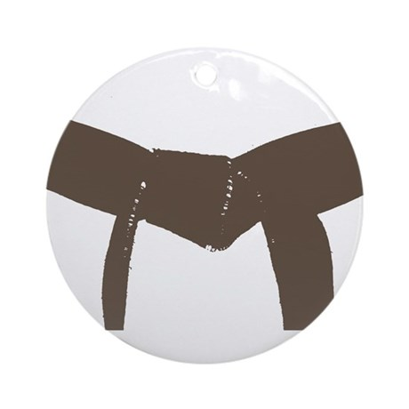 martial arts brown belt ornament by martialartsgift