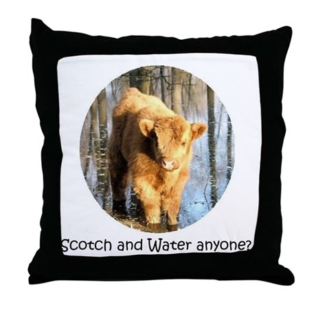 Scotch and Water Anyone? Throw Pillow