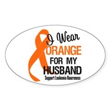 I Wear Orange For My Husband Oval Decal