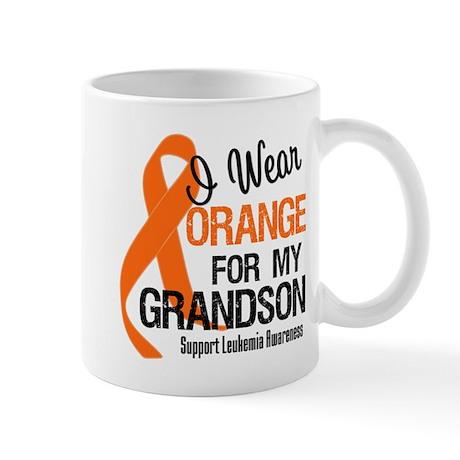 I Wear Orange For My Grandson Mug