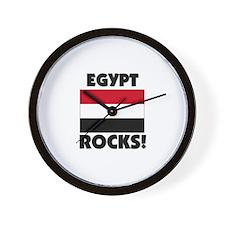 Egypt Rocks Wall Clock