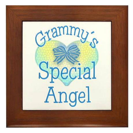 Grammy's Special Angel Framed Tile