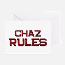 chaz rules Greeting Card