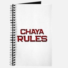 chaya rules Journal