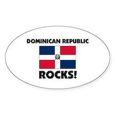 Dominican Republic Rocks Oval Decal