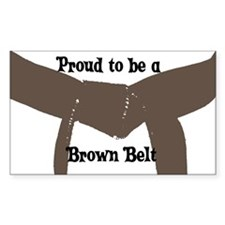 Proud to be a Brown Belt Rectangle Decal