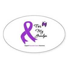 Pancreatic Cancer Grandpa Oval Decal