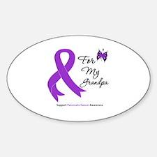 Pancreatic Cancer Grandpa Oval Decal
