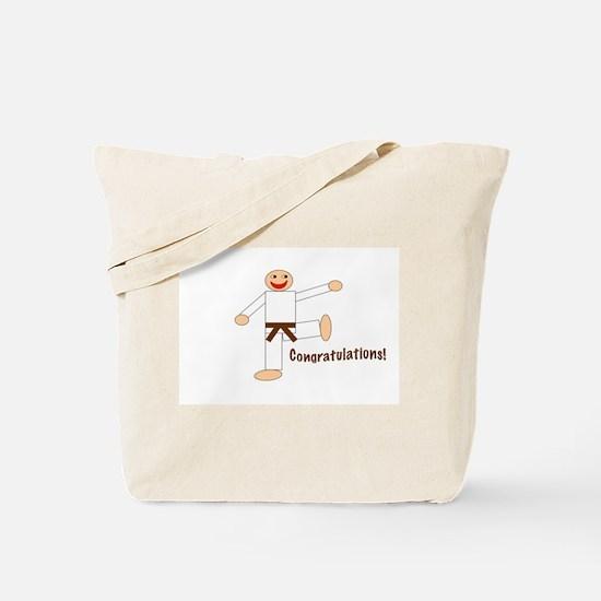 Brown Belt Congratulations Tote Bag