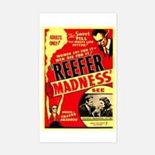Marijuana Reefer Madness Rectangle Decal