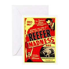 Marijuana Reefer Madness Greeting Card