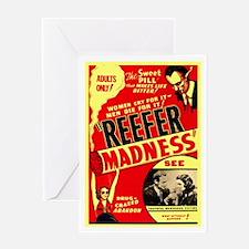 Marijuana Reefer Madness Greeting Card