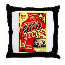 Marijuana Reefer Madness Throw Pillow