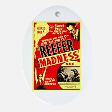 Marijuana Reefer Madness Oval Ornament