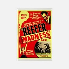 Marijuana Reefer Madness Rectangle Magnet