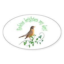 Robin Oval Decal