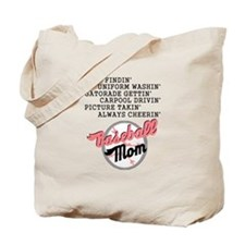 BASEBALL MOM-PINK Tote Bag