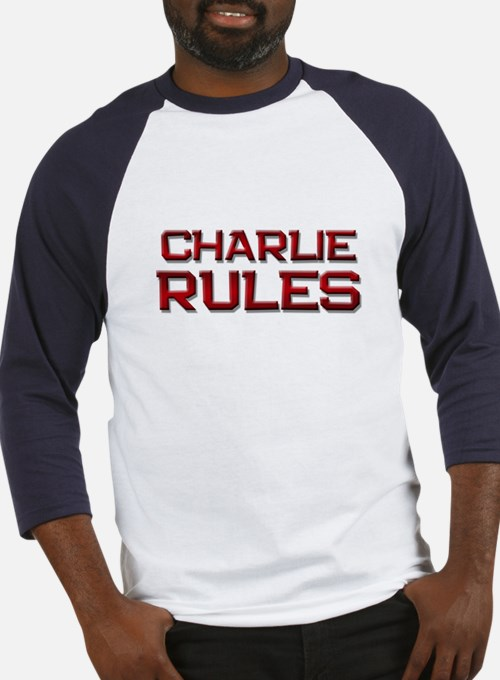 charlie rules Baseball Jersey