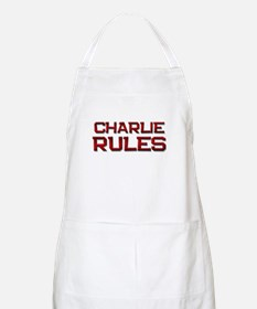 charlie rules BBQ Apron