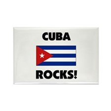 Cuba Rocks Rectangle Magnet
