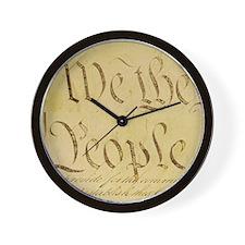 We The People II Wall Clock