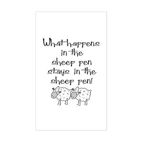 ... the sheep pen Rectangle Sticker