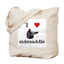 I Heart Sidesaddle Tote Bag