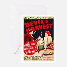 Marijuana Devil's Harvest Pot Greeting Card