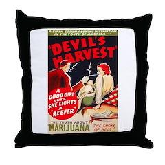 Marijuana Devil's Harvest Pot Throw Pillow