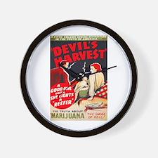 Marijuana Devil's Harvest Pot Wall Clock