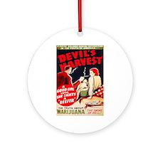 Marijuana Devil's Harvest Pot Ornament (Round)