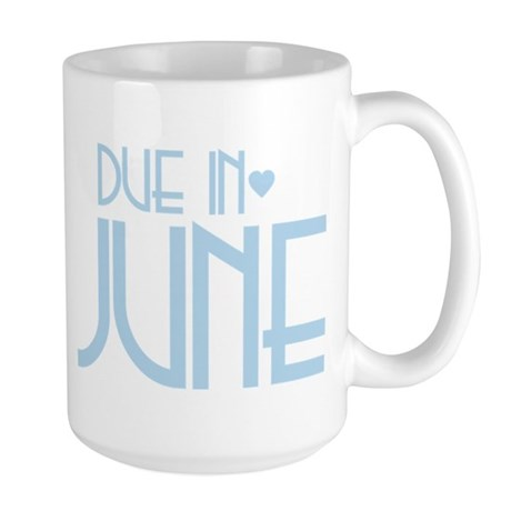 Blue Urban Heart Due June Large Mug