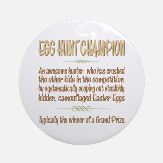 Easter Egg Hunt Champion Definition Ornament (Roun