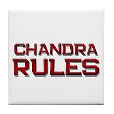 chandra rules Tile Coaster