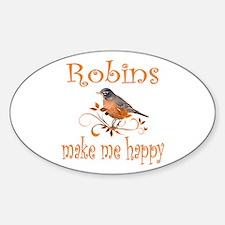 Robin Oval Sticker (10 pk)