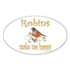 Robin Oval Decal