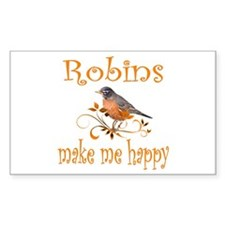 Robin Rectangle Decal
