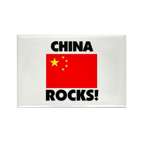 China Rocks Rectangle Magnet