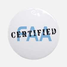 Aviation FAA Certified Ornament (Round)
