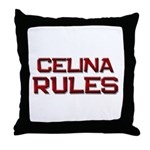 celina rules Throw Pillow