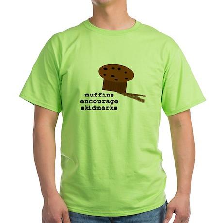 Skidmarkz Green T-Shirt