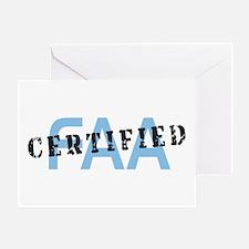Aviation FAA Certified Greeting Card