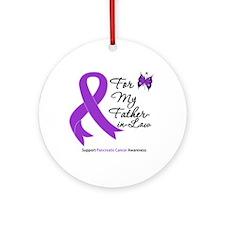 PancreaticCancer FatherInLaw Ornament (Round)