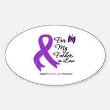 PancreaticCancer FatherInLaw Oval Decal