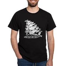 Sailing Ship Old Skool Tattoo T-Shirt