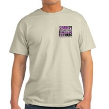 Hero Comes Along Husband Pancreatic Cancer Shirt L