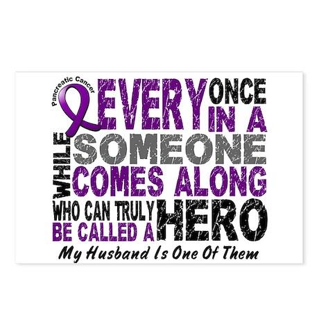 Hero Comes Along Husband Pancreatic Cancer Postcar