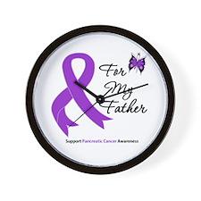 Pancreatic Cancer Father Wall Clock