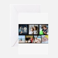 7 Photo Family Collage Greeting Cards
